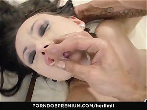 HER restrict large titties honey takes fat lollipop in gaped butt