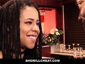 SheWillCheat - cheating wife screws bbc in bathroom
