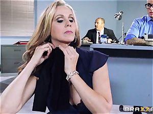 splendid manager Julia Ann gets a dual creaming
