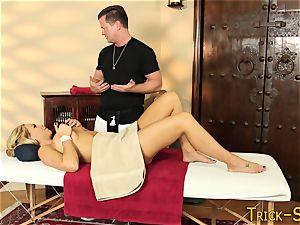 chesty blonde massaged down