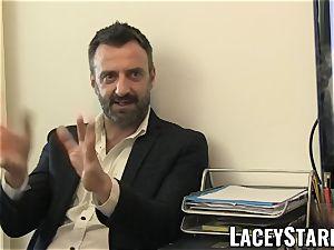 LACEYSTARR - GILF eats Pascal milky jizz after fuck-fest