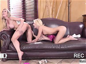 Brandi enjoy and Bella Rose gets filmed while having fuck-fest