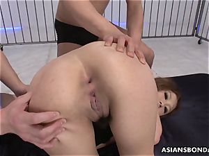 Getting her delicate fuckholes licked up by the fellas