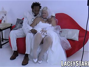 LACEYSTARR - grandmother bride fed with jizm after poking