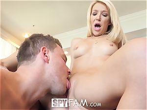 SpyFam Stepmom Laura Bentley tears up stepson