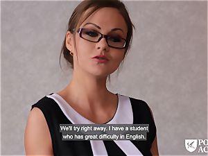 porno ACADEMIE - british Tina Kay steaming assfuck in three way