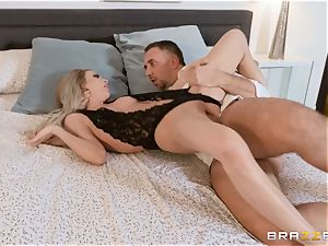 Aiden Ashley slobbering on a immense man meat