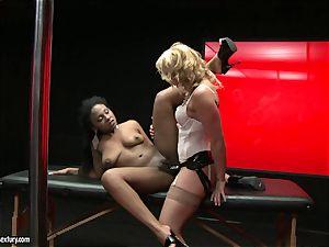 raunchy Kathia Nobili shoves her cord on boner deep down her counterpart gullet