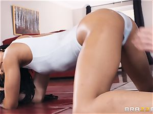 Kira Noir feasting on a big boner