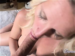 Devon Lee is liking her man's crop wedged in her saucy throat