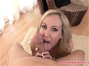 big-titted blonde gargles And faceholes phat prick