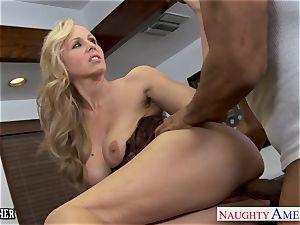 blond teacher Julia Ann banging a bbc