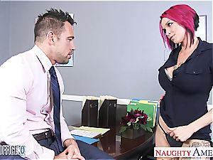 Anna Bell Peaks raw at the office for a excellent boink