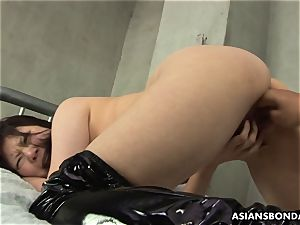 japanese endures raunchy frigging and a nipple torture