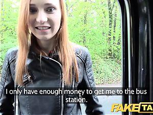 fake cab slim redhead likes raunchy romp