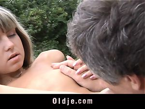 elderly assfuck insertion for lil' tight donk