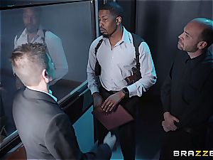 suspended black detective assfucking a light-haired bombshell