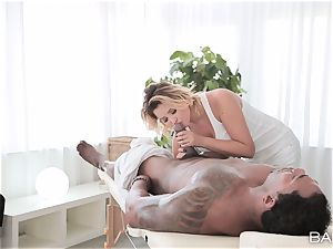 Anna Polina takes on draped big black cock deep in her super-steamy vagina