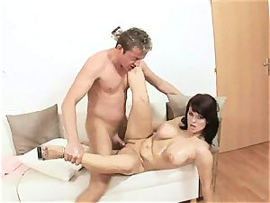 luscious Kristi love slams a rock-hard stiffy down her throat