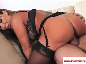 Ava Devine does dp during a three-way