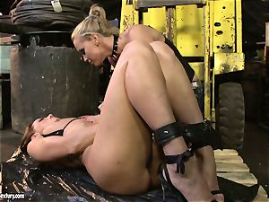 Andy chocolate-colored and Kathia Nobili rump dildoing rock-hard