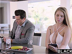 super-sexy Lena Paul tries black meat