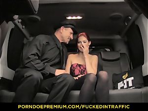 banged IN TRAFFIC - molten Kattie Gold torn up in the car