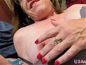 USAwives grannie Carmen Solo toys getting off