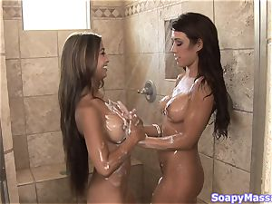 Pretty chicks Kina Kai and Capri Cavanni rubbing one another