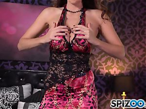 Spizoo-Watch Alison Tyler drilling a ginormous salami gigantic udders