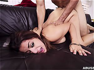 Foxy Mia Martinez gives up to the rock-hard palm of the excellent santa