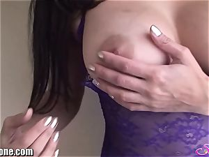 SunnyLeone Sunny Leone in mind-blowing purple undergarments
