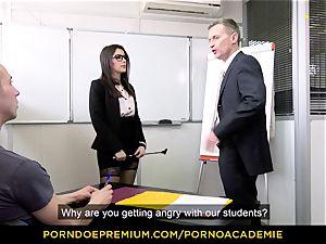 porn ACADEMIE - teacher Valentina Nappi MMF three-way