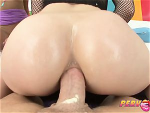 PervCity Krissie and Proxy asian ass-fuck threeway