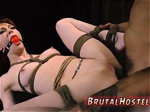restrain bondage strapped gagged beautiful youthful femmes, Alexa Nova and Kendall woods, take a train-ride