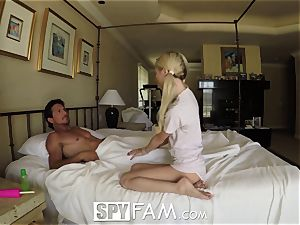 SpyFam Step daughter-in-law Piper Perri pummel and internal ejaculation