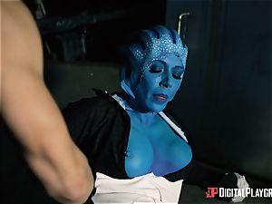 Space porno parody with steamy alien Rachel Starr