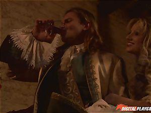 Pirate slams his rigid meat sword into Devon and Teagan Presley