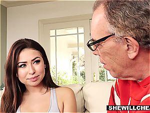 SheWillCheat- cuckold husband watches warm wifey plumb big black cock