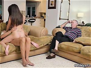 female on rim job and pierced railing the senior chisel!