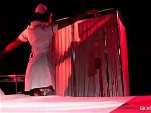 Creepy-Sexy nurse flesh Diamond dances and taunts