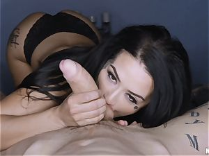 Katrina Jade point of view cunt shag whilst eyes covered