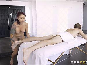 Monique Alexander secretly taking the huge monster sausage of Danny D in the bum