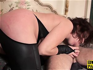 red-haired british sub analed and corded