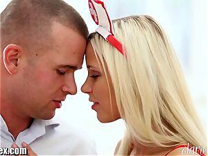 DaringSex steamy blonde Nurse vigorously humping