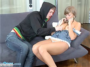 youthful schoolgirl gets screwed after school