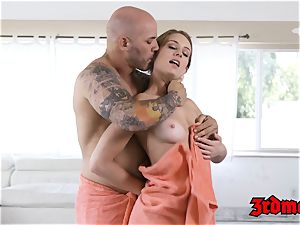 voluptuous ash-blonde Daisy Stone banged after softcore rubdown