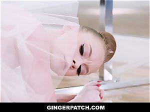 GingerPatch - redhead Ballerina railing Judges phat fuck-stick