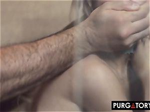 PURGATORYX pummeling a torrid milf and her little stepdaughter