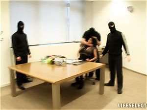 hook-up in the Office with Aletta Ocean and Brandy smile